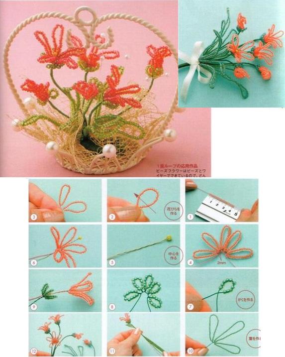 Данный букет сочетает в себе цветы из бисера и искусственные листья, но вы можете сплести.  Для получения ссылки на...