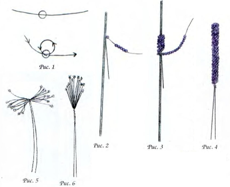 Брошка Хризантема и папоротник-1.