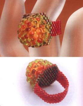 делаем кольцо из бисера