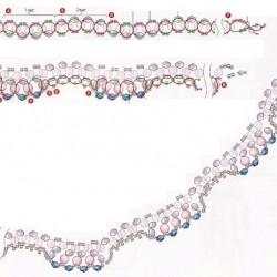 Схема плетения волнистого колье