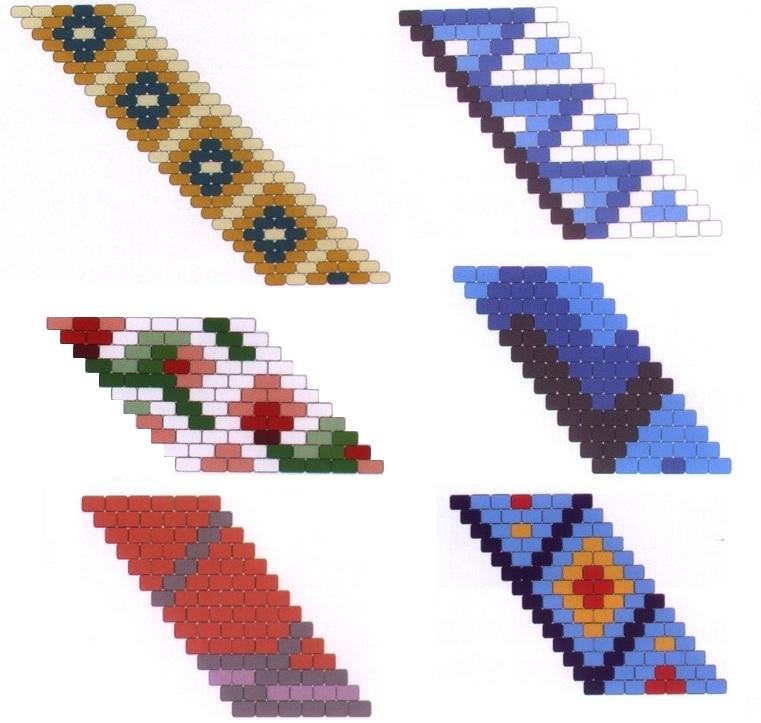 Большое количество браслетов из разноцветного бисера.
