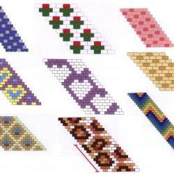Много схем браслетов из бисера