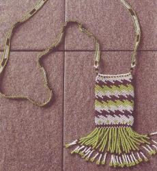 плетем сумочку на шею