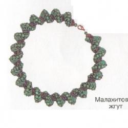украшение зеленый спиральный жгут