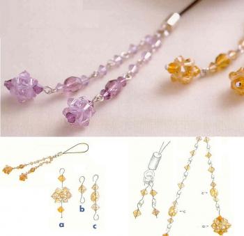 Подвески из кристаллов. Схема плетения