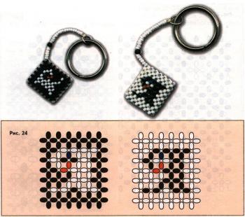 плетение брелков из бисера с буквами