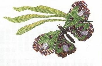 сплетенная бабочка из рубки