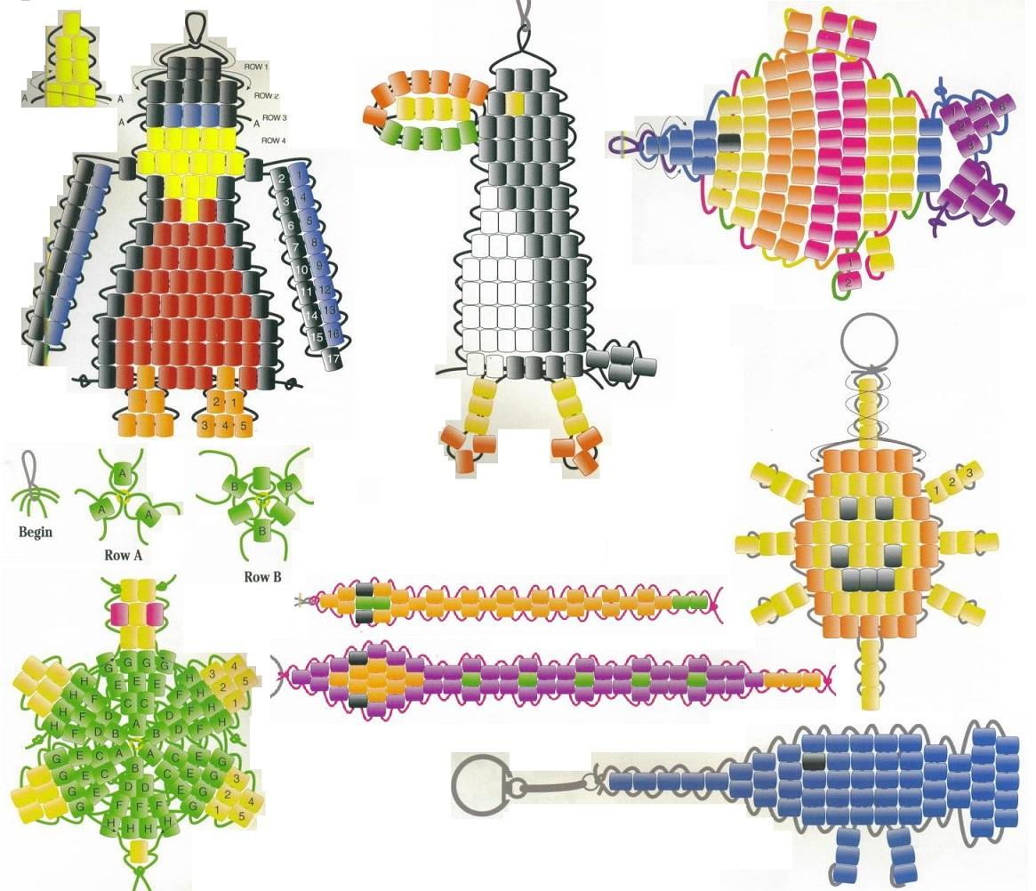 Схемы из бисера брилки