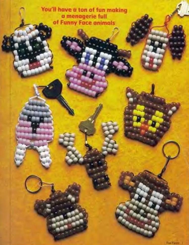 морды животных из бисера