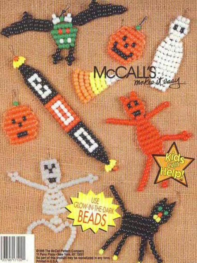 брелки из бисера для хэллоуина