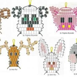 схемы плетения брелков из бисера