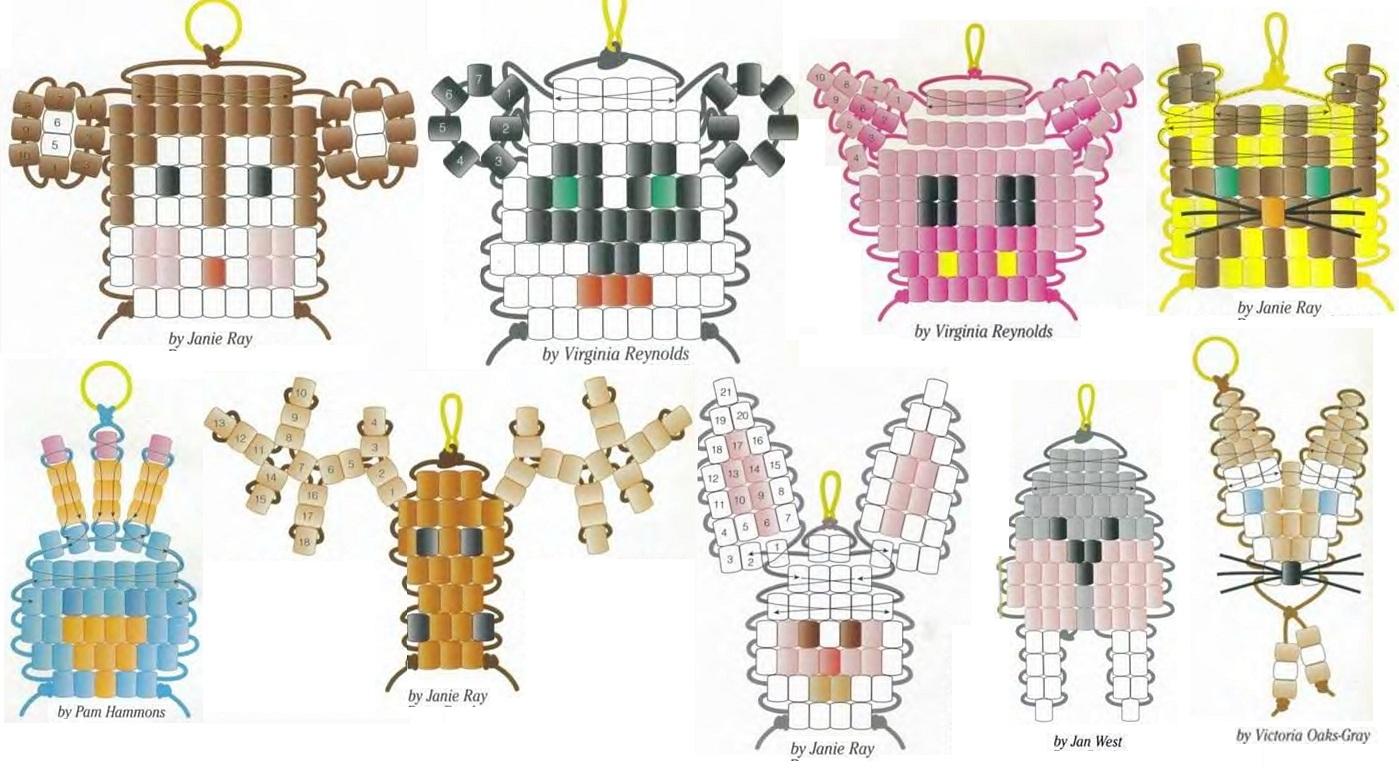 Объемные фигурки из бисера схемы, фигурки животных из бисера, плетение.