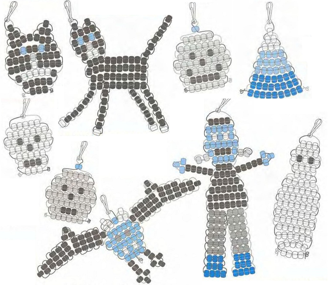 """Источник.  Миниатюрные фигурки сплетенные техникой  """"параллельного плетения """" из бисера.  Работа очень простая и не..."""