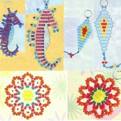схема плетения разных брелков