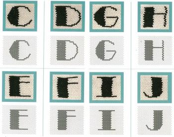 плетение букв из бисера