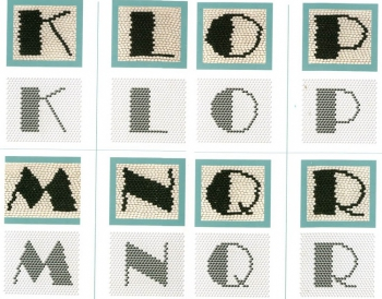 плетение английского алфавита