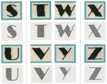 английские буквы из бисера