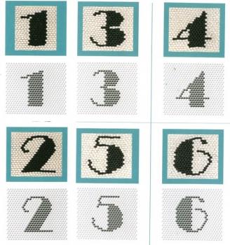 схемы плетения цифр из бисера