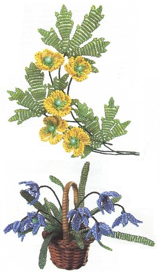 лютиков из бисера Плетение