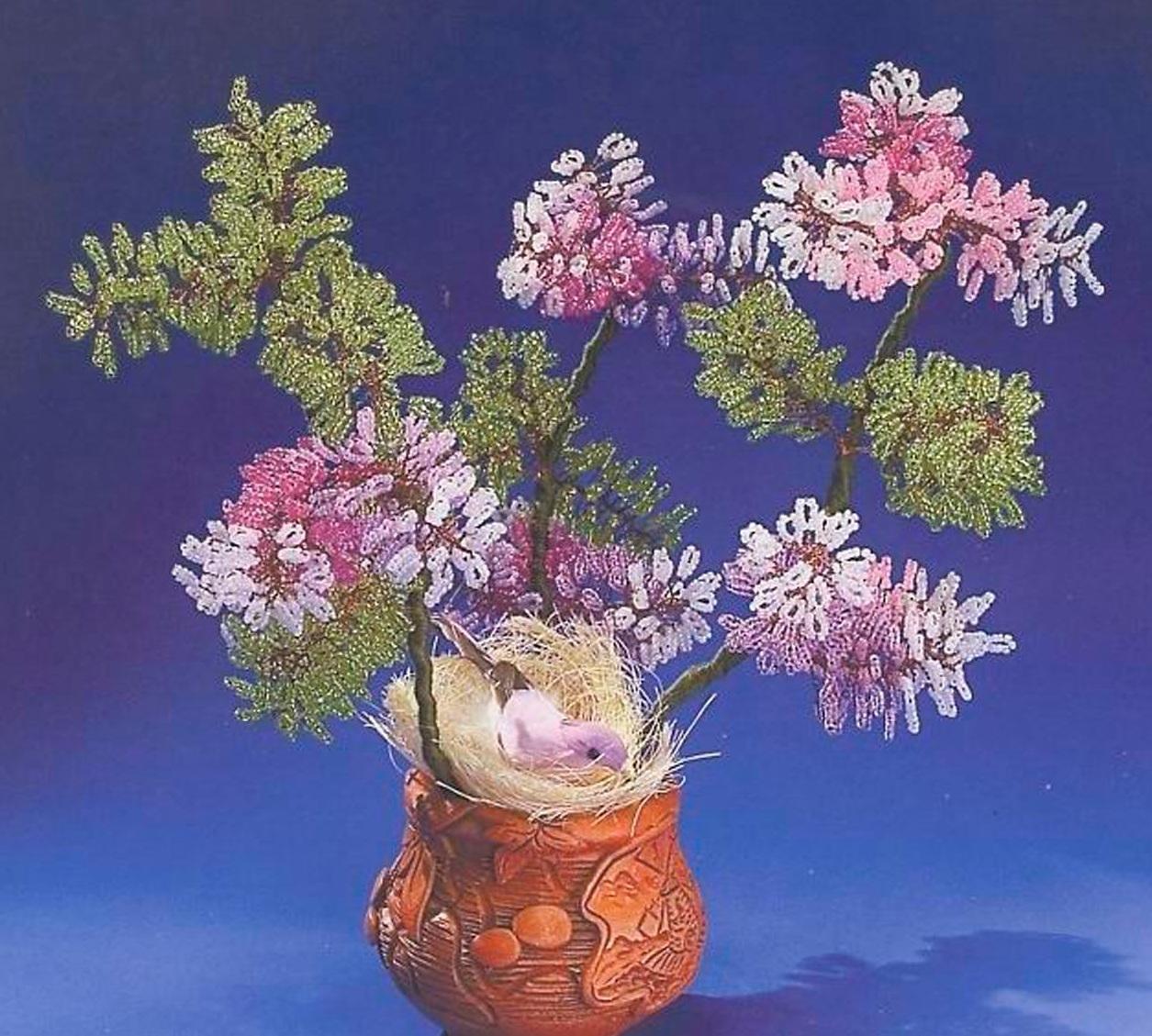 Бисероплетение цветов и деревьев