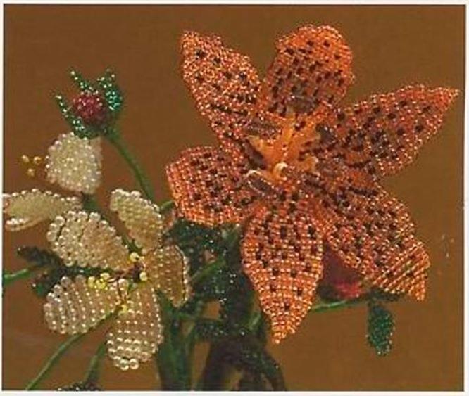 вышивка лилии из бисера - Город бисера.
