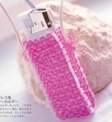 сумочка из розовых кристаллов