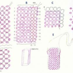 схема плетения чехла из бусин