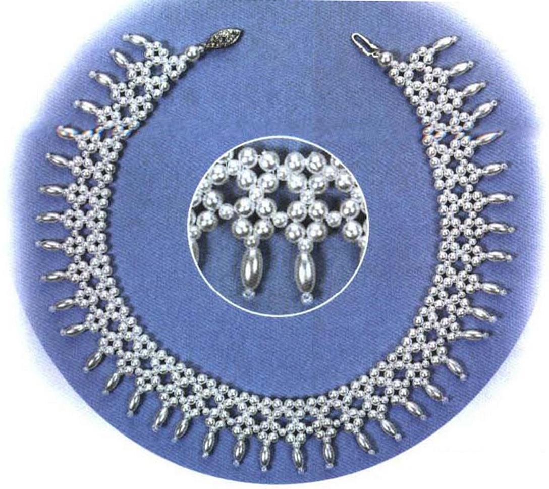 """Ожерелье  """"Анастасия """" из бисера.  Permanent Link to Вышивка браслета бисером.  Урок от Шерри Серафини."""
