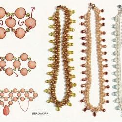 схема плетения украшений из бисера