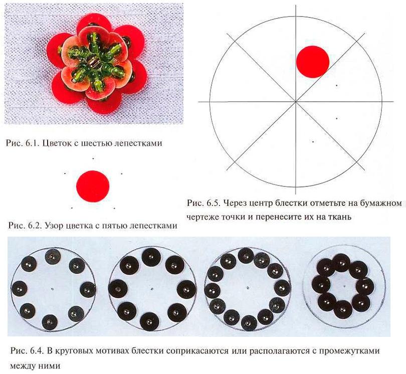 Схемы вышивок пайетками 38
