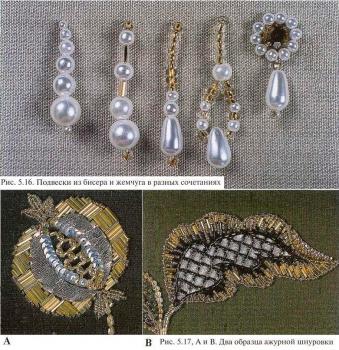 примеры подвесок и вышивки бисером