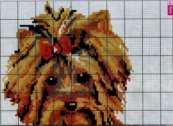 коричневый пес для вышивки
