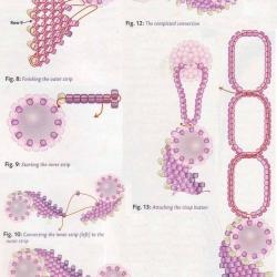 плетение колье из бусин и рубки