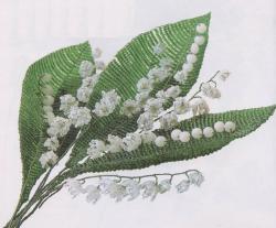 Цветы ландыша из бисера