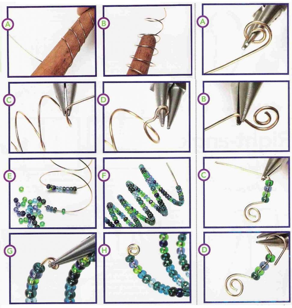 мастер-класс изготовления елки-спирали из бисера
