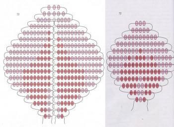 схема лепестков роз из бисера