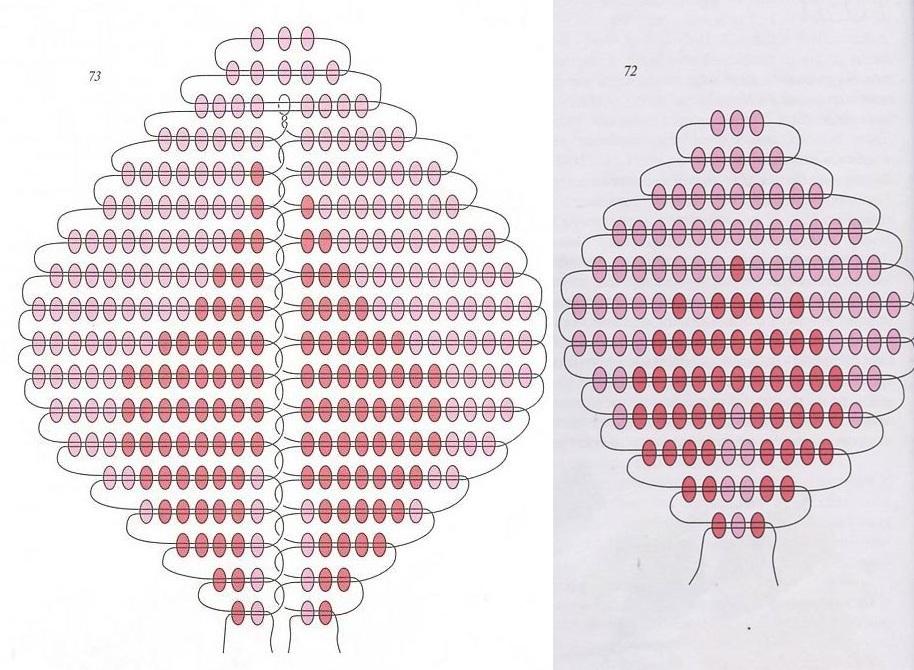 плетением по схеме: 13 (3