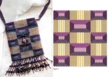 схема плетения сумочки из бисера в квадратик