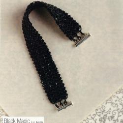браслет черная магия сплетен из бисера