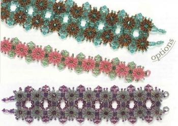 примеры разных браслетов сплетенных из бисера