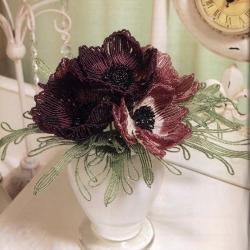 Иллюстрации Цветы из бисера в вашем доме - Донна Дикт.