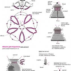 схема новогодних брелков из бисера