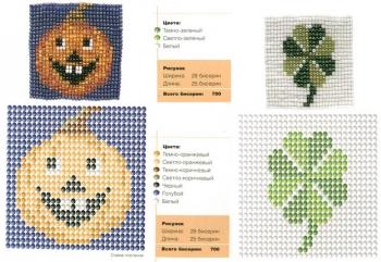схема плетения изделий из бисера