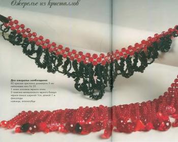 ожерелье из красных и черных кристаллов