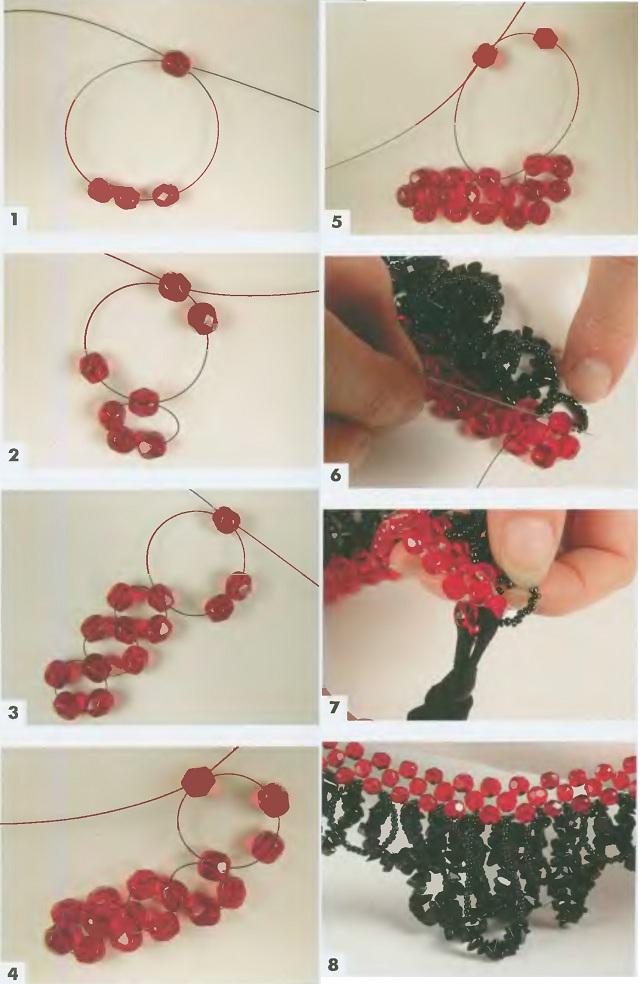 схема плетение ожерелья из
