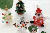 сувенирый из бусин на новый год
