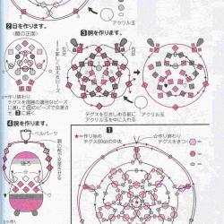 схема плетения деда мороза из бусин