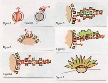 схема цветочного колье из бисера
