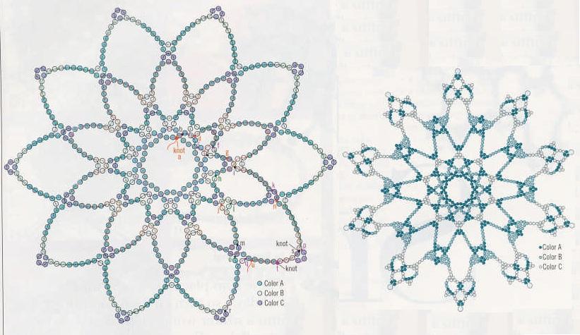 плетение разных снежинок из