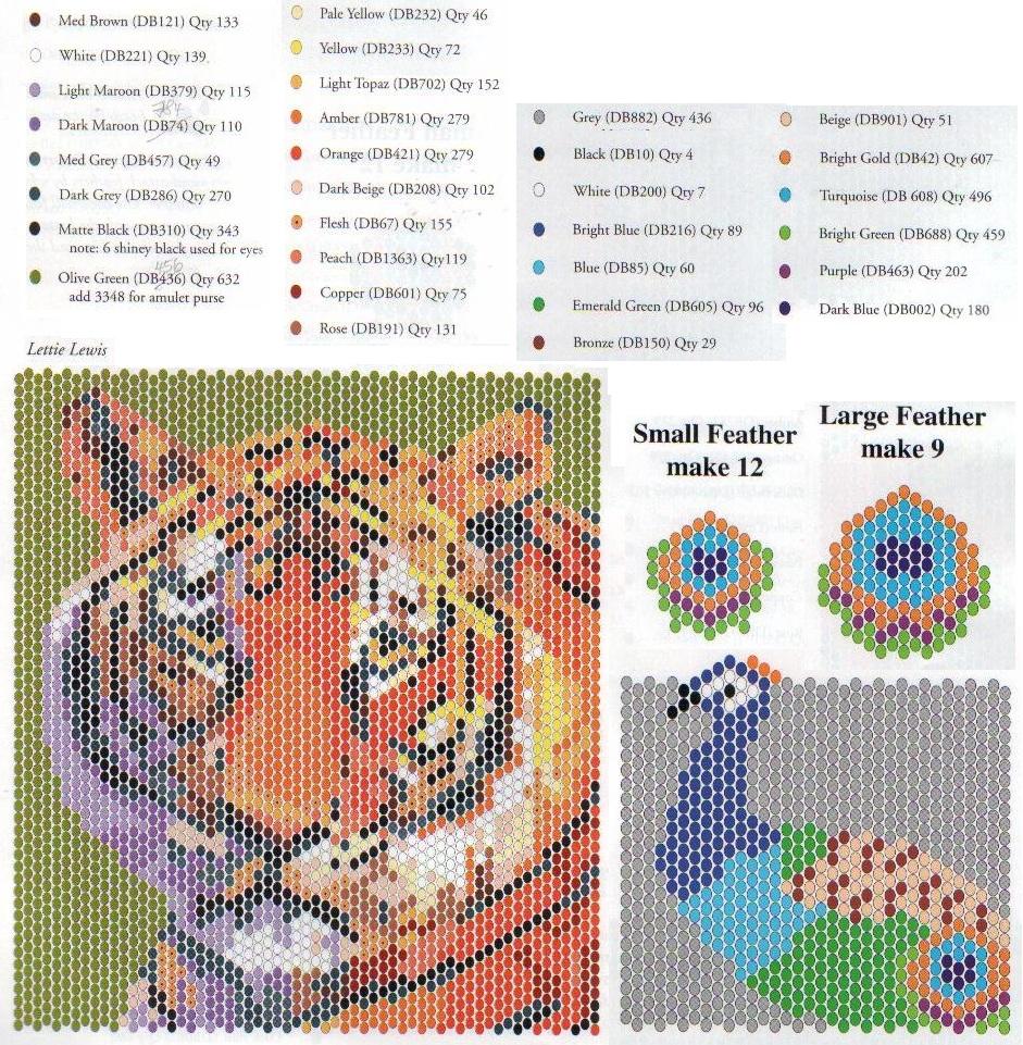 схема плетения сумочки из бисера с животными